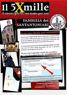 5 x 1000 in favore della Famiglia dei Santantoniari