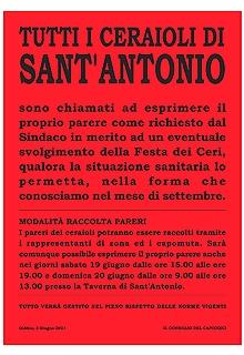 Comunicazione a tutti i Ceraioli di S.Antonio